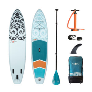 MOAI 11′ package, US Finbox, Fiberglass paddle.