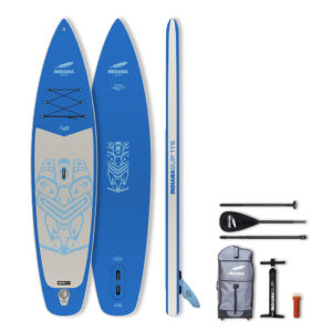 Opblaasbaar SUP Board Indiana 11'6 Family Pack BLUE with 3-piece Fibre/Composite Paddle
